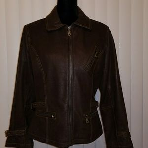 Country  Club Ladies Leather Jacket